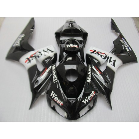 Injection molding ABS plastic fairing kit for Honda CBR1000RR 06 07 west  sticker black fairings set - MOTORINGPARTS LT