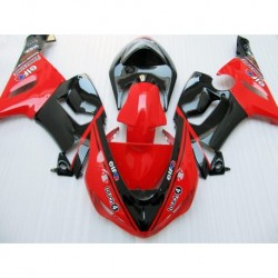 100NEW Red black fairing kit FOR KAWASAKI NINJA ZX 6R 636 05 06 ZX-6R 05-06 ZX6R 2005 2006 ZX 6R 0