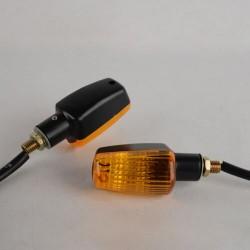 2 Pair Universal Motorcycle Motorbike 13 LED Turn Signal Indicator Light Lamp Amber Blinker For Yama