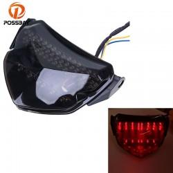 POSSBAY Motorcycle Rear Taillight LED Lights Cafe Racer for SUZUKI suzuki GSXR 600 2004-2005 Tail Br