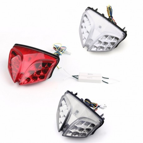 Areyourshop Integrated LED TailLight Turn Signals Suzuki GSXR 600//750 2004-2005 Clear