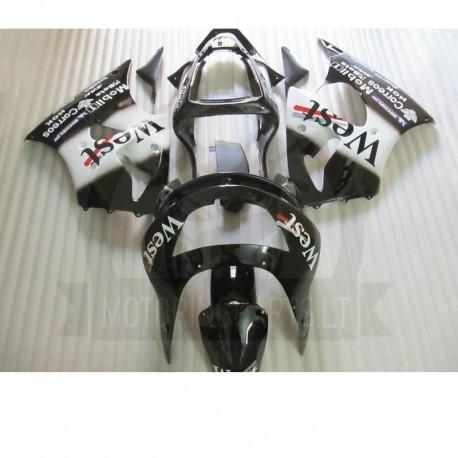 Kawasaki ZX6R 1998 1999 black west plastikai