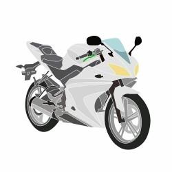 Yamaha YZF-R125 2014-2018 plastikų komplektas