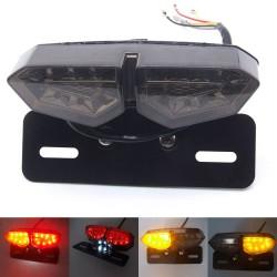 Universalus LED žibintas su numerių apšvietimu ir laikikliu