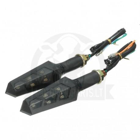4X 6 LED moto posukiai (2vnt.)