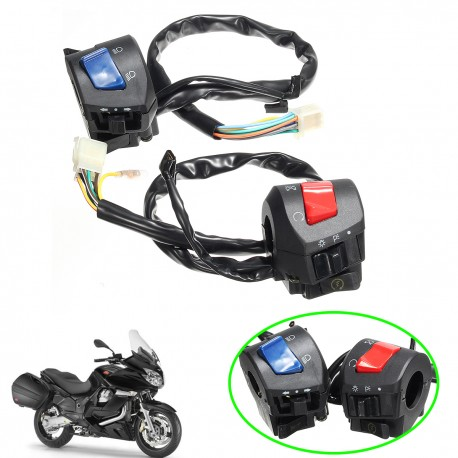Pair Universal 7/8inch Motorcycle Handlebar Horn Turn Signal Light Control Switch