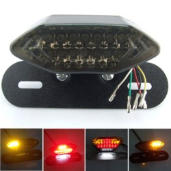 LED Motorcycle Quad ATV Tail Turn Signal Brake License Plate Integrated Light taillight motorcycle m