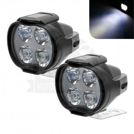 2pcs Motorcycles Headlight Super Bright LED Scooters Spotlight Working Spot Light Motorbike Fo