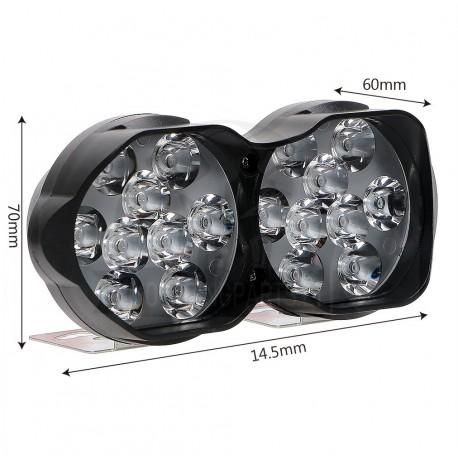 18 LEDs Motorcycles LED Headlight