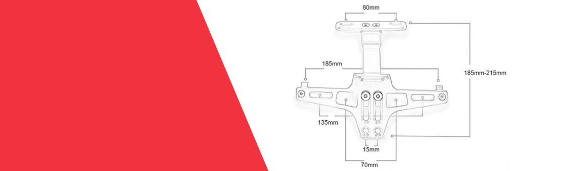 Numerių laikikliai ir apšvietimas Jūsų motociklui